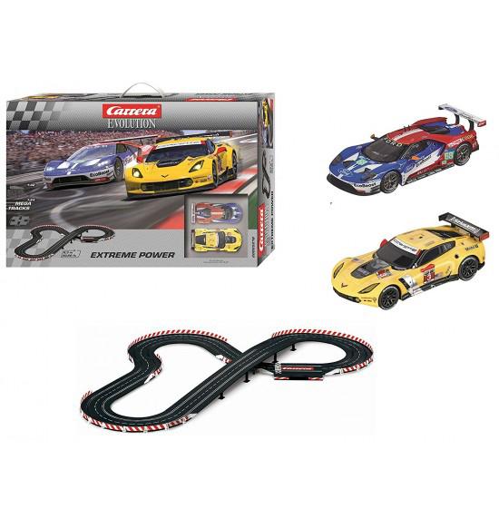 Carrera evolution autopista elettrica Corvette Ford GT 1-32
