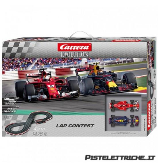 Carrera evolution 1-32 pistaelettrica Lap Contest Vettel Verstappen