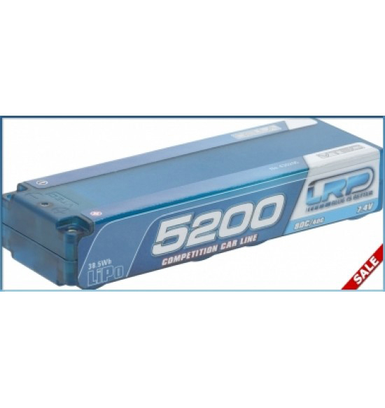 RP LiPo Competition Car Line Hardcase 5200 - 80C/40C - 7.4V