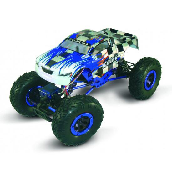 1-18 auto elettrica Crawler 4wd Blu