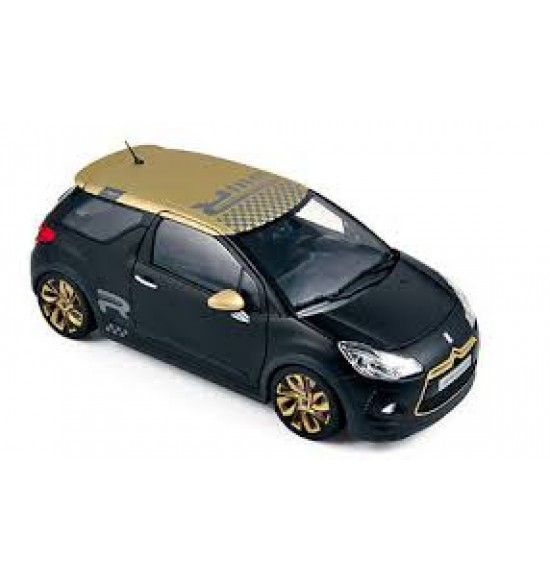 Citroen DS3 Racing 2013 Matt Black-Gold 1/18