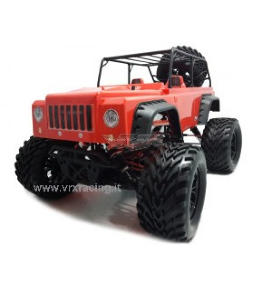 JEEP Monster Truck  1/10 motore elettrico Radio 2.4Ghz 4WD RTR
