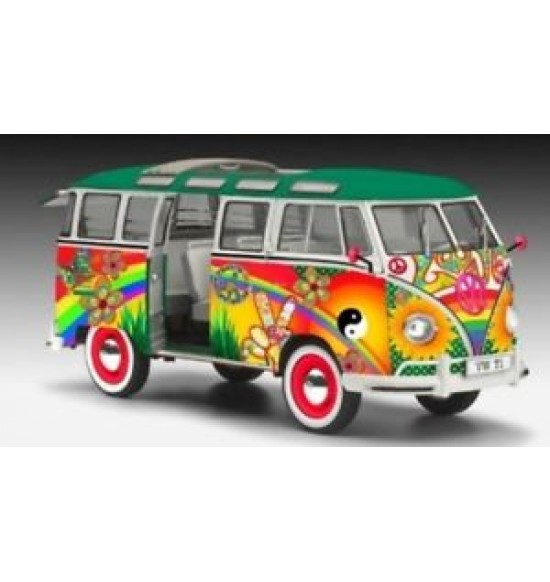 1-24 VW T1 SAMBA BUS FLOWER POWER