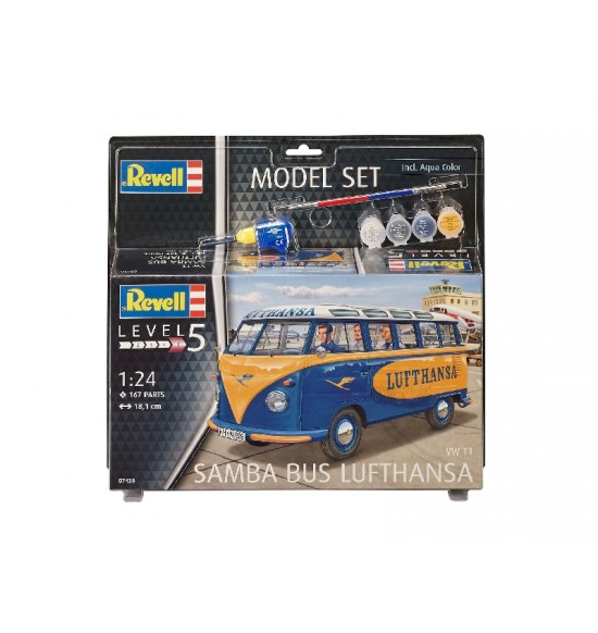 1-24 Model Set VW T1 Samba Bus revell