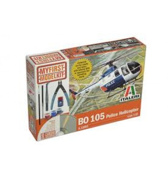 BO 105 Police Helicopter My First Model Kit scala 1 : 32