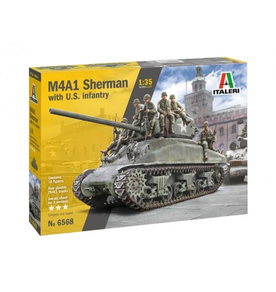 1-35 M4A1 SHERMAN CON FANTERIA
