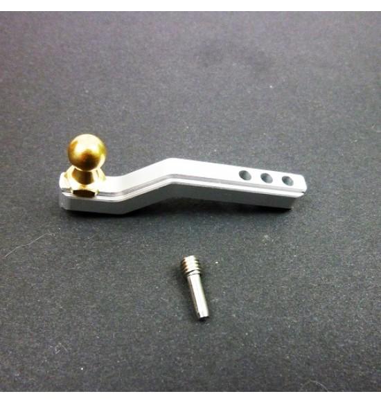 Gancio Traino in alluminio e ottone per traxxas trx4