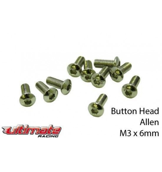 M3x6mm Viti A Bottone (10pz)