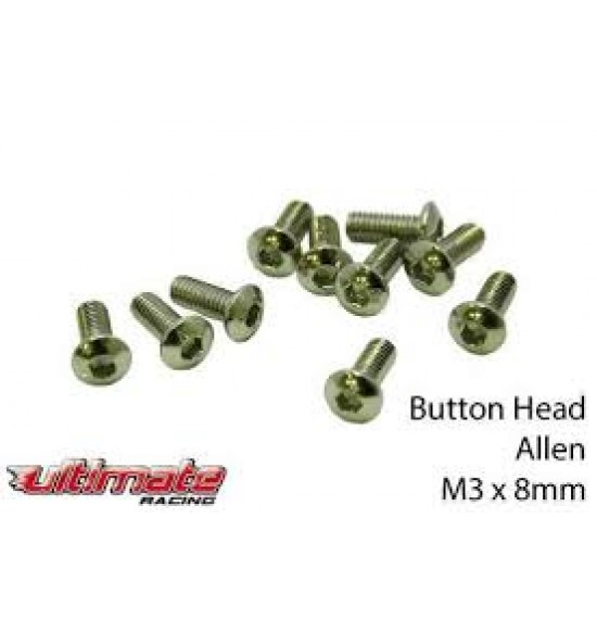 M3x8mm Viti A Bottone (10pz)