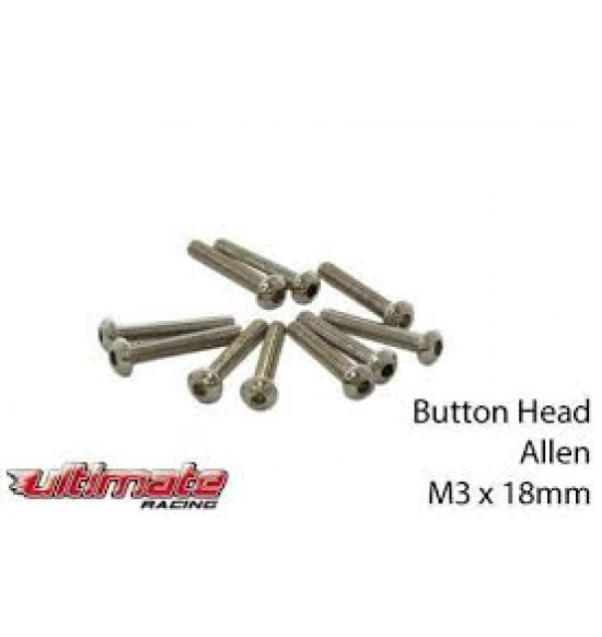 M3x18mm Viti a Bottone (10pz)