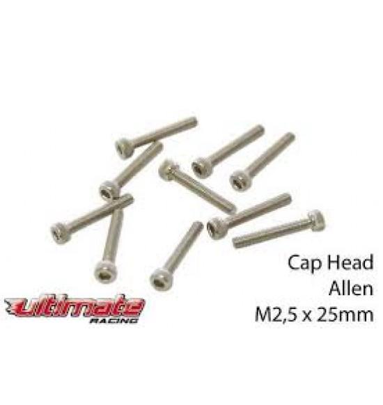 M2,5x25mm Viti testa a brugola (10pz)