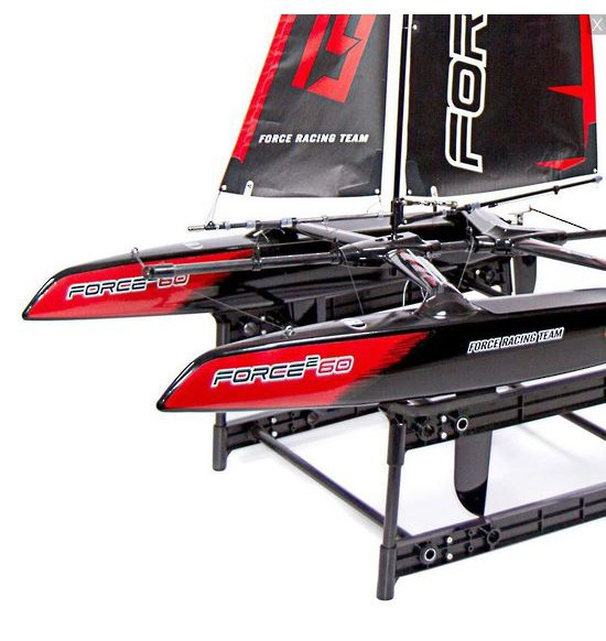 Force2 60 catamaran sailboat 2.4ghz rtr, mode 2