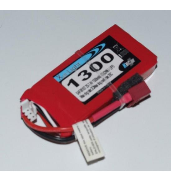 Batteria lipo 2s 7,4v 1300mah 20c