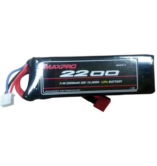 Batteria lipo 2s 2250mah 30c 7,4v