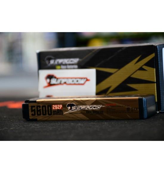 Batteria lipo Sunpadow 5600 Mah 7,4 2s 120c