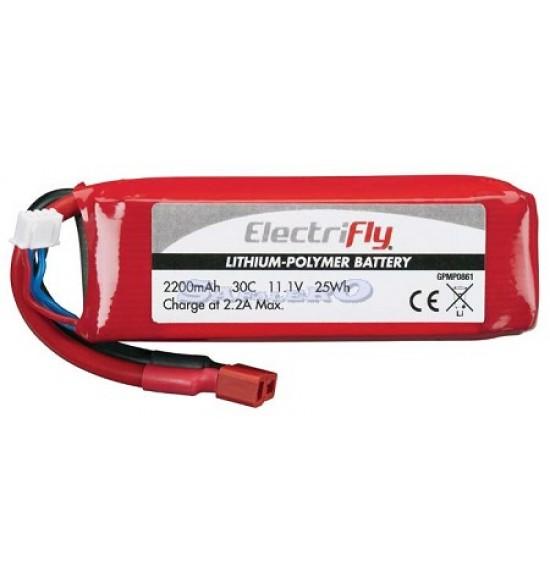 Batteria LiPo 11,1V 2200mAh 30C ElectriFly