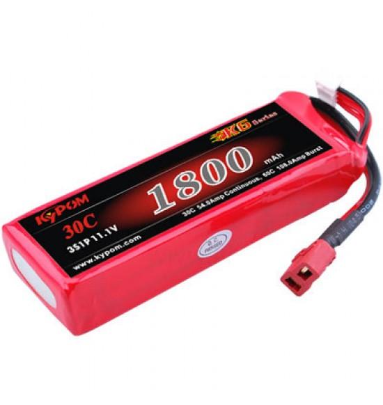Bateria lipo 1800mah 3s 11,1v kipom