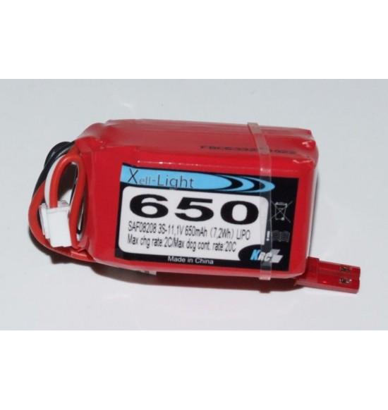 Batteria lipo 11,1v 650Mah 3s 30c