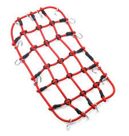 Rete elastica per fissaggio merce su portapacchi rossa 200x110