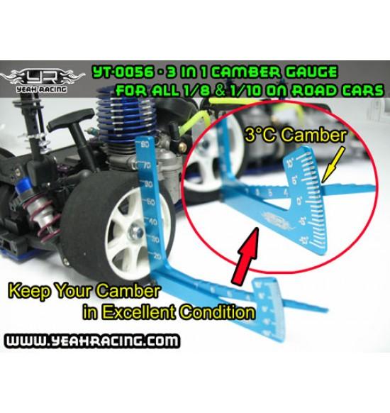 Yeah Racing misuratore camber / altezza telaio / altezza gomme NERO